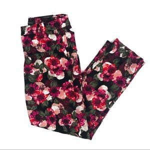 Banana Republic Avery Mid Rise Cropped Floral